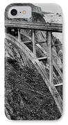 Bixby Creek Bridge Black And White IPhone Case by Benjamin Yeager