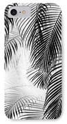 Black And White Palm Fronds IPhone Case by Karon Melillo DeVega