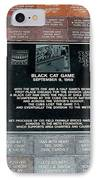Black Cat Game IPhone Case by Rob Hans