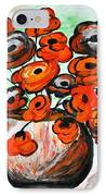 Black Poppies IPhone Case by Ramona Matei