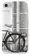 Black Vintage Bicycle IPhone Case by Jimmy Karlsson
