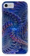 Blue 3 IPhone Case by Deborah Benoit