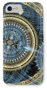 Blue And Gold Mechanical Abstract IPhone Case