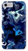 Blue And Turquoise Abstract IPhone Case