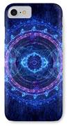 Blue Circle Fractal IPhone Case by Martin Capek