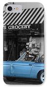 Blue Classic Car In Jamestown IPhone Case by RicardMN Photography
