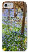 Blue Flowers In Spring Forest IPhone Case