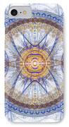 Blue Fractal Inception  IPhone Case by Martin Capek