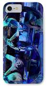Blue Gears Collage IPhone Case