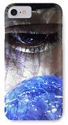Blue Glass World IPhone Case by Sarah Loft