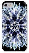 Blue Globe Thistle Flower Mandala IPhone Case