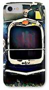 Blue Hot Rod IPhone Case by Stanley  Funk
