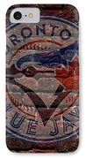 Blue Jays Baseball Graffiti On Brick  IPhone Case by Movie Poster Prints