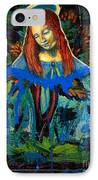 Blue Madonna In Tree IPhone Case