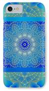 Blue Space Flower IPhone Case by Hanza Turgul