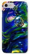 Blue Swirls IPhone Case by David Patterson