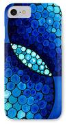 Blue Unity IPhone Case by Sharon Cummings