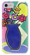 Blue Vase IPhone Case by Bodel Rikys