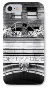 Board Of Trade Building IPhone Case by John Rizzuto