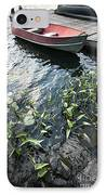 Boat At Dock On Lake IPhone Case by Elena Elisseeva