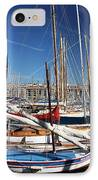Boat Day In The Port IPhone Case