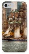 Boat - Governors Island Ny - Lower Manhattan IPhone Case by Mike Savad