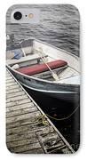 Boat In Fog IPhone Case by Elena Elisseeva