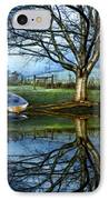 Boat On The Lake IPhone Case by Debra and Dave Vanderlaan