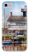 Boat - Tuckerton Seaport - Tuckerton Lighthouse IPhone Case