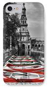 Boats By The Plaza De Espana Seville IPhone Case by Mary Machare