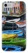 Boats In Front Of The Buildings II IPhone Case