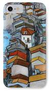 Boats In Front Of The Buildings Iv IPhone Case by Xueling Zou