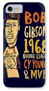 Bob Gibson St Louis Cardinals IPhone Case by Jay Perkins
