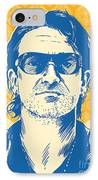 Bono Pop Art IPhone Case by Jim Zahniser