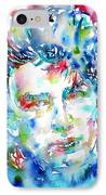 Bono Watercolor Portrait.1 IPhone Case by Fabrizio Cassetta
