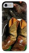 Boots And Bags IPhone Case by Bob Hislop