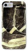 Boots On The Ground Monotone IPhone Case by Joan Carroll