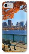 Boston Charles River In Autumn IPhone Case by John Burk