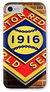 Boston Red Sox 1916 World Champions IPhone Case
