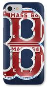 Boston Red Sox Logo Letter B Baseball Team Vintage License Plate Art IPhone Case