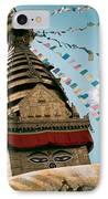 Boudhnath Stupa In Nepal IPhone Case by Raimond Klavins