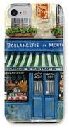 Boulangerie De Montmartre IPhone Case by Marilyn Dunlap