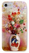 Bouquet Of Flowers In A Japanese Vase IPhone Case by Odilon Redon