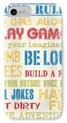 Boys Rules IPhone Case