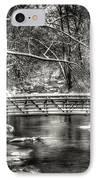 Brainards Bridge After A Snow Storm 3 IPhone Case