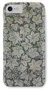 Bramble Wallpaper Design IPhone Case by Kate Faulkner