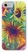 Brandy's Sunflowers - Still Life On Windowsill IPhone Case by Talya Johnson
