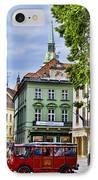 Bratislava Town Square IPhone Case by Jon Berghoff