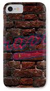 Braves Baseball Graffiti On Brick  IPhone Case