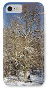 Break Under A Large Tree - Sunny Winter Day IPhone Case by Matthias Hauser